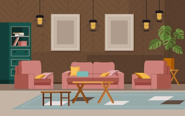 Conceito de interior de casa de sala de estar