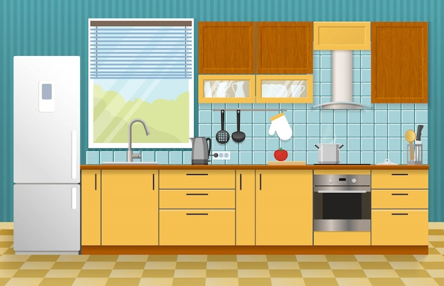 Conceito de interior de cozinha