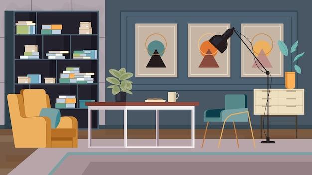 Conceito de interior de sala de estar moderno e elegante