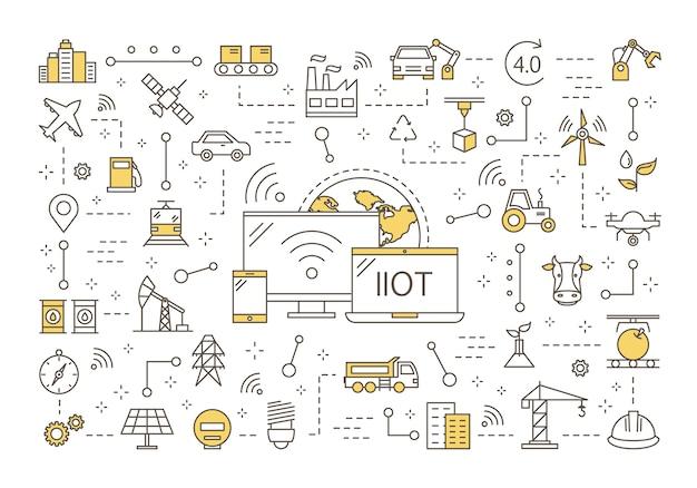 Conceito de internet das coisas industrial