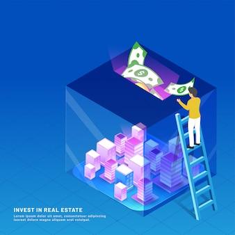 Conceito de investimento imobiliário.