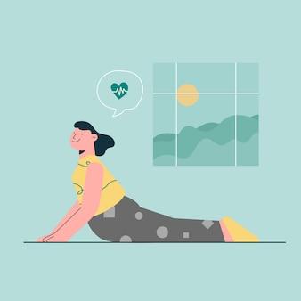 Conceito de ioga em casa