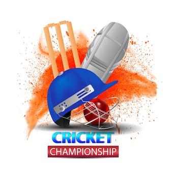 Conceito de jogo de críquete com fundo