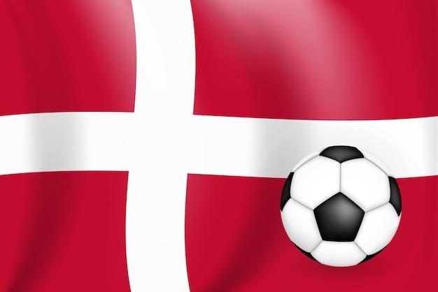 Conceito de jogo de futebol de fundo dinamarca com bandeira campeonato
