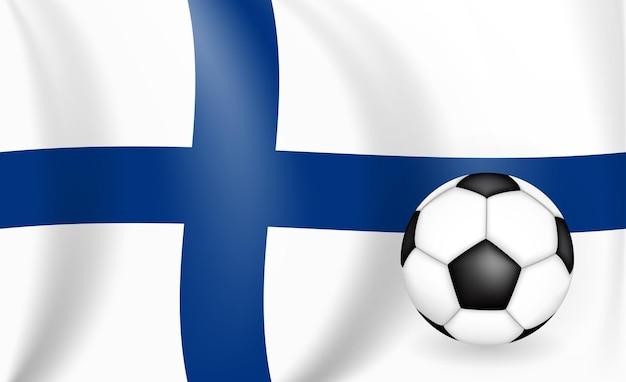 Conceito de jogo de futebol de fundo finlândia com bandeira