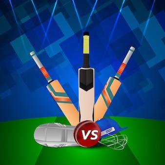 Conceito de jogo do campeonato de críquete
