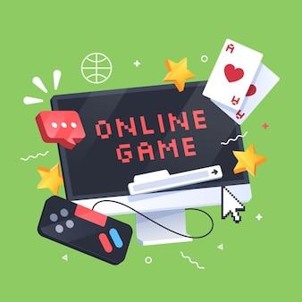 Conceito de jogos online