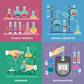 Conceito de laboratório químico