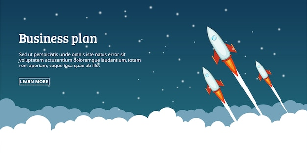 Conceito de lançamento de plano de negócios, estilo cartoon
