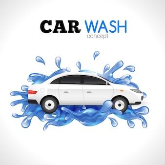Conceito de lavagem de carro