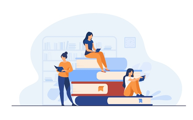 Conceito de leitores de livros