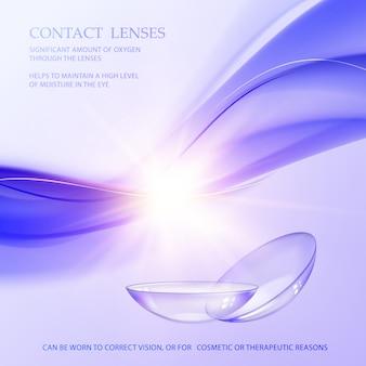 Conceito de lente de contato.