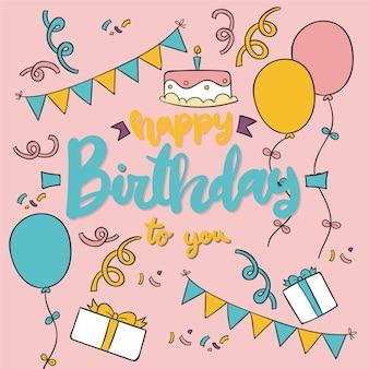 Conceito de letras de aniversário