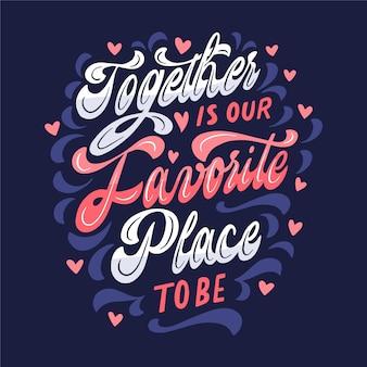 Conceito de letras de casamento bonito
