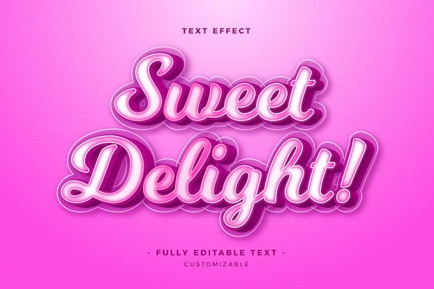 Conceito de letras de efeito de texto
