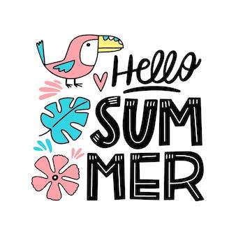 Conceito de letras de verão