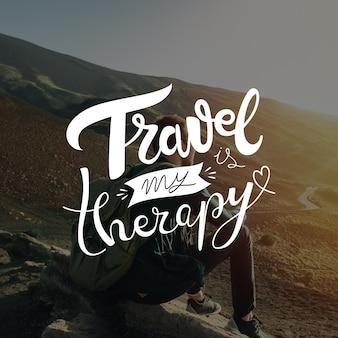 Conceito de letras de viagens