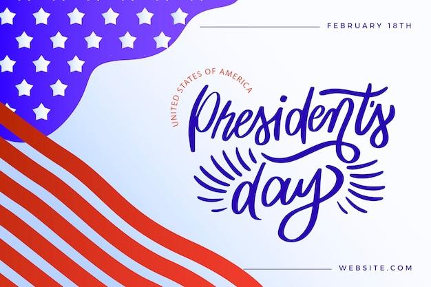 Conceito de letras do dia do presidente