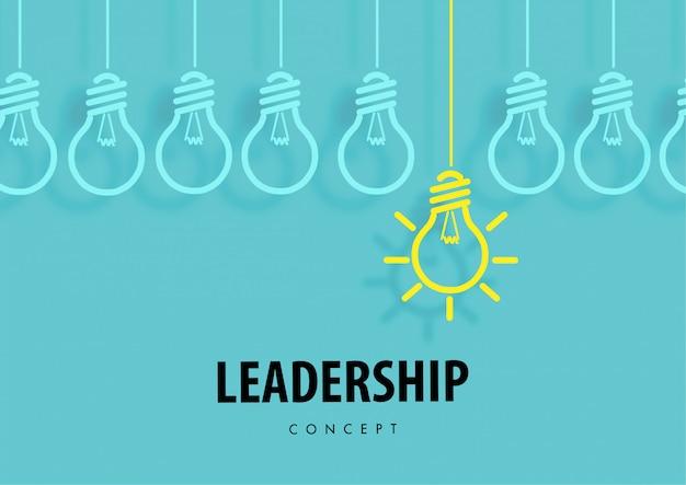 Conceito de liderança com lâmpada