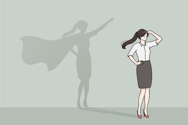 Conceito de liderança de sucesso de auto-estima