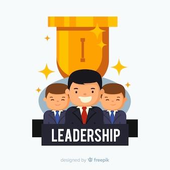 Conceito de liderança em estilo simples