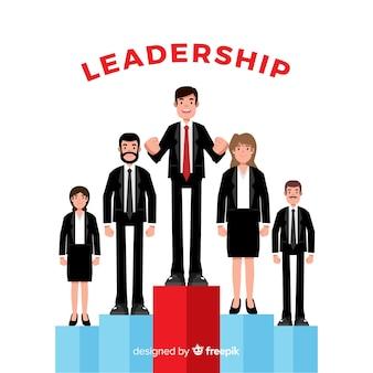 Conceito de liderança moderna