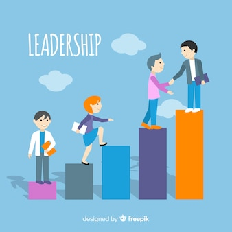 Conceito de liderança plana