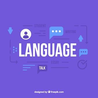 Conceito de linguagem com design plano