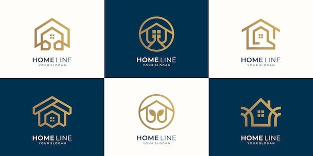 Conceito de linha de casa de design de coleção