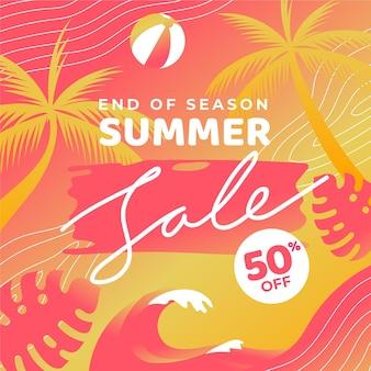 Conceito de liquidação de verão no final da temporada