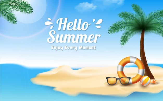 Conceito de liquidação de verão olá no final da temporada