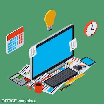 Conceito de local de trabalho de escritório