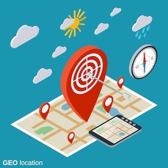 Conceito de localização geográfica