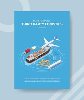 Conceito de logística de terceiros