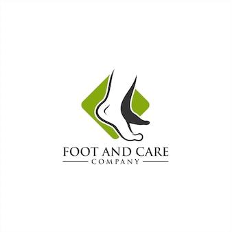 Conceito de logo foot and care