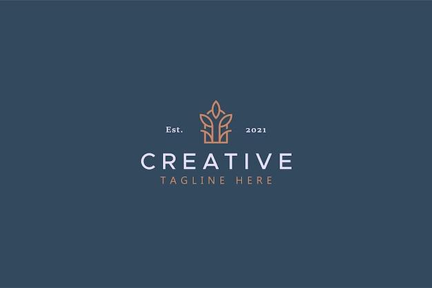 Conceito de logotipo abstrato de planta e janela