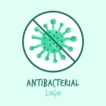 Conceito de logotipo antibacteriano