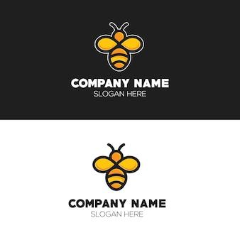 Conceito de logotipo de abelha bonitinho