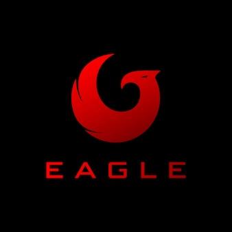Conceito de logotipo de águia