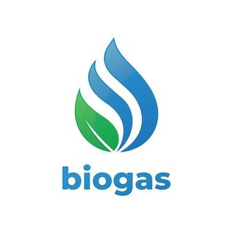 Conceito de logotipo de biogás