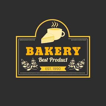 Conceito de logotipo de bolo de padaria