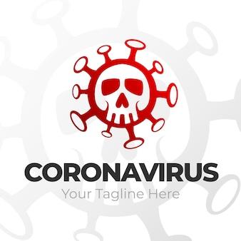 Conceito de logotipo de coronavírus