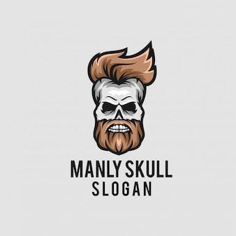 Conceito de logotipo de crânio