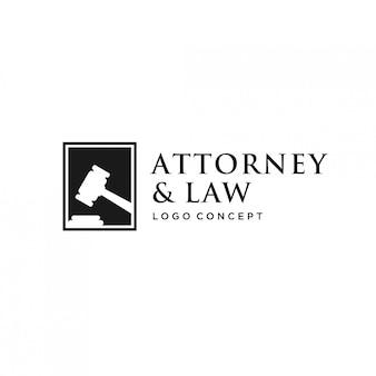 Conceito de logotipo de direito