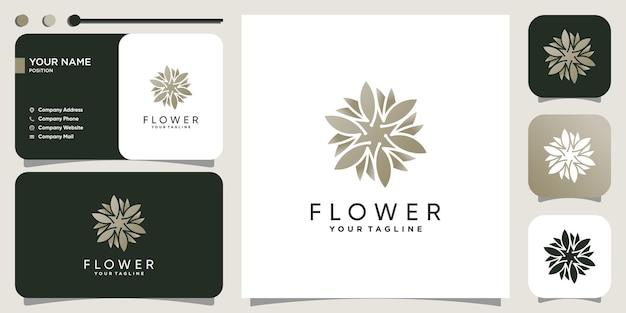 Conceito de logotipo de flor com estilo criativo moderno premium vector