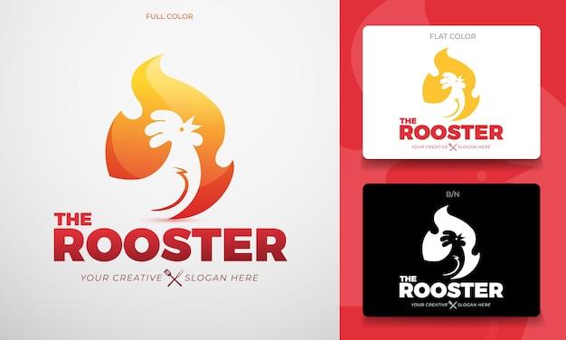 Conceito de logotipo de frango em vetor editável