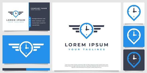 Conceito de logotipo de horas de voo