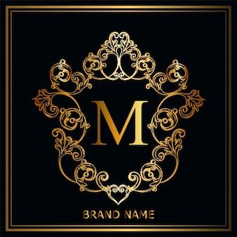 Conceito de logotipo de luxo