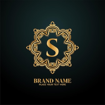 Conceito de logotipo de marca de luxo letter s