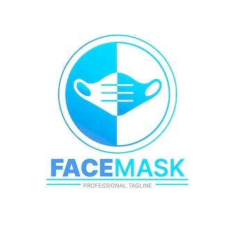 Conceito de logotipo de máscara facial